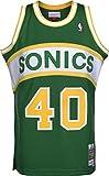 Mitchell & Ness Camiseta NBA Seattle Supersonics Shawn Kemp 40 (Verde), L