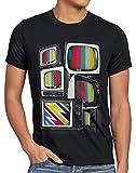 style3 Vintage TV Camiseta para Hombre T-Shirt Monitor televisión, Talla:M, Color:Negro