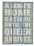 G.W. Cartel de Madera Gigante con diseño de Avión, Estilo Vintage con Refranes de Man'S Home, Dimensiones 70 x 50 cm, Perfectamente inspirados