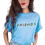 Sudadera Mejores Amigos Hombre y Mujer Camiseta Friends Serie TV Show Logo Camisas Manga Corta Adolescentes Chicas Blusa Lertras Boyfriend Swag Pullover Hip Hop Tshirt Vintage Tunica Top Verano Tumblr
