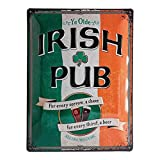 Nostalgic-Art Cartel de chapa retro Irish Pub – Idea de regalo como accesorio de bar, metálico, Diseño vintage para decoración pared, 30 x 40 cm