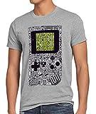 style3 8-bit Game Camiseta para Hombre T-Shirt Pixel Boy, Talla:L, Color:Gris Brezo