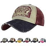 UMIPUBO Gorras Beisbol Deportes Unisex Adjustable al Aire Libre Cap clásico algodón Sombrero Motocicleta Gorras de béisbol (D)
