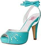 Pin Up Couture BETTIE-01 Teal Faux Leather UK 8 (EU 41)