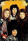 Queen Rock Póster de Pared Metal Creativo Placa Decorativa Cartel de Chapa Placas Vintage Decoración Pared Arte Muestra para Bar Club Café