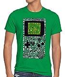 style3 8-bit Game Camiseta para Hombre T-Shirt Pixel Boy, Talla:L, Color:Verde