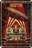 Letrero de pared con pintura de hierro, diseño vintage de Led-Zeppelin, para decoración de hojas de metal, para café, cerveza, bar, sala de estar, dormitorio, hogar