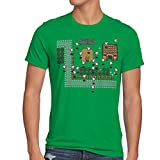 style3 Zelda Retro Gamer Camiseta para Hombre T-Shirt, Talla:L;Color:Verde