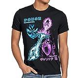 style3 Goku vs. Vegeta Camiseta para Hombre T-Shirt energía Gallic Kamehameha Dragon Rayo Ball, Talla:L