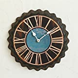 Loft Industrial Wind American do viento hierro viejo reloj de pared cerveza botella tapa reloj de metal movimiento reloj de pared colgantes de pared
