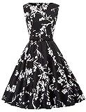 Grace KARIN - Vestido clásico de Audrey Hepburn con estilo clásico vintage de los años 50 y 60. Cl6086-70. S
