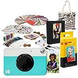 Kodak PRINTOMATIC Cámara de impresión instantánea (Azul) Paquete