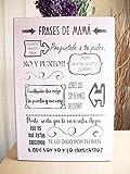 Cartel de Madera Con Frases motivadoras, optimistas, con sentido del humor y citas célebres. Ideas para Regalar o Decorar. Acabados Vintage-Regalo Día de la Madre