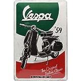 Nostalgic-Art Cartel de Chapa Retro Vespa – The Italian Classic – Idea de Regalo para los Fans de Las Scooters, metálico, Diseño Vintage, 20 x 30 cm