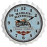 Hongsheng Ronda Cerveza Botella Tapa Reloj Moderno Barrido Movimiento Sala decoración Reloj de Pared,5