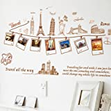 UniqueBella Pegatinas de Pared Vinilo Decorativo Adhesivo Infantil Decoración para Hogar Cocina Salón Habitación Dormitorio Cuartos Fotos Recuerdos de Viaje