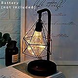 Alian Diamond Vintage Style Industrial lámpara de Mesa lámpara de Noche Nightlight Nightlight Decoration Lighting para Escritorio de Dormitorio