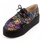 RoseG Mujer Zapatos Cordones Creepers Mezclado Color Size35.5