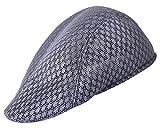 AIEOE Sombrero Gorras Boina Transpirable para Verano Retro con Visera Protección Solar Cap al Aire Libre Ocio, Gris