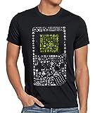 style3 8-bit Game Camiseta para Hombre T-Shirt Pixel Boy, Talla:L, Color:Negro