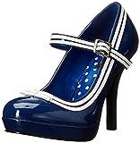 Pleaser Secret-15 Mary Jane, Tacones mujer, Negro (Blue Patent), 37 EU ( 4 UK)