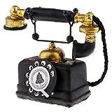 Baoblaze Teléfono Antiguo Rotativo Vintage con Cable Retro Teléfono Decoración de Hogar - 7111-14