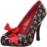 Pleaser EU-CUTIEPIE-06 - Zapatos de tacón de Material sintético Mujer, Color Negro, Talla 39
