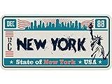 Oedim Matricula Decorativa 30,00 cm x 15,00 cm New York | Decoración Pared | Aluminio 3 mm Resistente