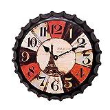 DIDA CLOCK Hielo Frío Botella De Cerveza Tapa Reloj De Pared 7# 35cm(14inch)