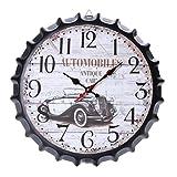 Vosarea - Reloj de Pared con Tapa de Botella y Movimiento de Cuarzo, silencioso y silencioso para decoración de Pared de Oficina en casa (2)