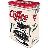 Nostalgic-Art Caja de café Retro Strong Coffee – Idea de Regalo para Aficionados a Nostalgia, Lata con Tapa aromática, Diseño Vintage, 11 cm