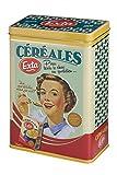 Natives 510210Exta Caja para Cereal Metal 17x 10x 25cm, Multicolor