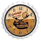 interior Reloj De Pared Vintage De Metal Reloj De Pared Decorativo Reloj De Pared En Color - Forma De Tapa De Botella De Cerveza - Estilo Industrial - Art Deco - Regalo Creativo - Bar Cocina De La S