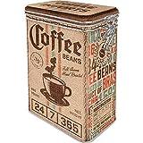 Nostalgic-Art Caja de café retro, Coffee Sack – Idea de regalo para aficionados a nostalgia, Lata con tapa aromática, Diseño vintage, 1,3 l