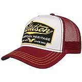 Stetson Gorra American Heritage Trucker Hombre - de Malla béisbol Snapback Cap Snapback, con Visera Verano/Invierno - Talla única Burdeos