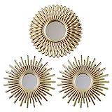BONNYCO Espejos Pared Decorativos Pack 3 Espejos Decorativos Ideales para Decoracion Casa, Habitación y Salón   Espejos Redondos Pared Regalos Originales para Mujer   Decoracion Pared