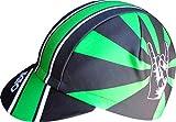 Gorra Ekeko Lagos. Gorra de Ciclismo Corte Racing. Ciclismo, Running, Triatlon y Trailrunning. 100% Poliester Racecut. (Verde/Negra)