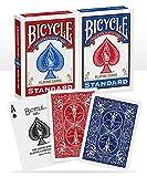 Bicycle US Playing Card 60808 - Lote de barajas inglesas (2 x 54 cartas)