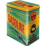 Nostalgic-Art Caja de Almacenamiento Retro L Gasoline – Idea de Regalo para Aficionados a Coches y Motos, Lata Grande de café, Diseño Vintage, 3 l