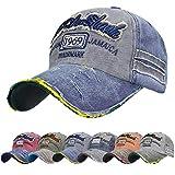 UMIPUBO Gorra de Béisbol Hombre de Estilo Vintage Unisex Cap Deportes al Aire Libre Sombrero Ajustable de Algodón Gorras (Gris Azulado)