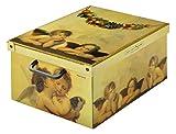 Kanguru Caja de Almacenamiento en cartòn Lavatelli, Modelo AMORINI, Media 32x42x21cm