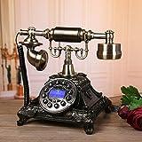 NYDZDM Teléfono antiguo de la vendimia de madera maciza hecha a mano de la antigüedad de la vendimia sala de estar oficina de asiento fijo adornos accesorios de moda dormitorio sala de estar adornos d