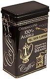 Negro Arabica Coffee–Estilo vintage–Caja metálica de almacenamiento para café/té/Lata rectangular herméticamente sellada