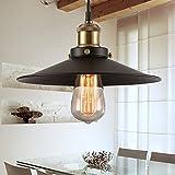 Makion - Lámpara de techo vintage, metal, black without bulb, E27 60.00 wattsW