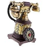 Baoblaze Teléfono Antiguo Rotativo Vintage con Cable Retro Teléfono Decoración de Hogar - 7111-28
