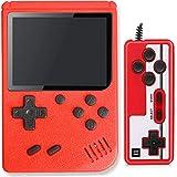 Lvozize Consola Retro, Consola de Juegos Portátil con 400 Juegos Clásicos Pantalla 3 Pulgadas Soporte TV 2 Jugadores Regalo de Cumpleaños Navidad para Niños Amigos Adultos-Rojo