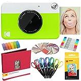 KODAK Printomatic Cámara instantánea (Verde) Paquete de Arte con Papel fotográfico Zink (20 Hojas) y más