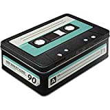Nostalgic-Art Wave 30714 Retro Cassette Storage Tin, Flat