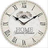 Tinas Collection Reloj de Pared Diseno Reloj de Cocina Decoracion (Home Sweet Home)