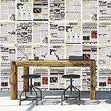 Walplus extraíble autoadhesiva pegatinas Mural de periódico Collage'vintage, 2paquetes de la pared adhesivos vinilo decoración del hogar papel pintado 280x 180cm, multicolor